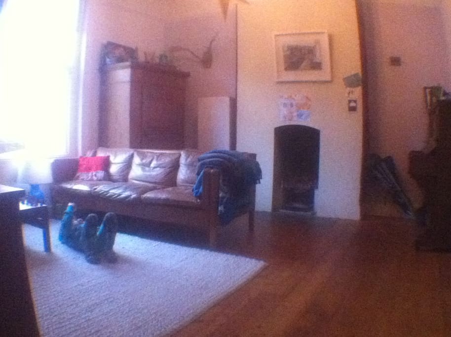 Front room with open fire.