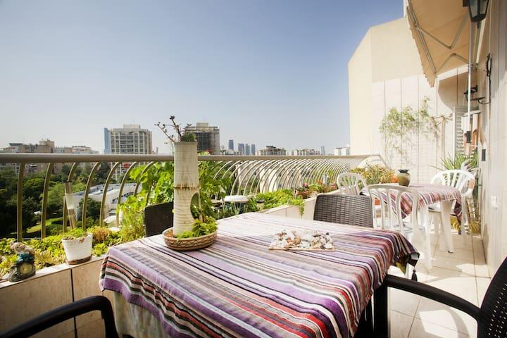 Balcony where we have breakfast on sunny mornings.