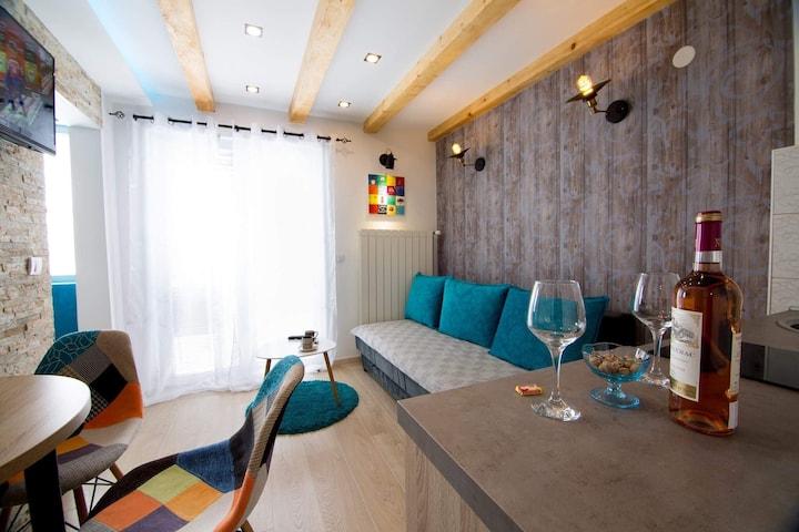 Mountain style duplex apartment