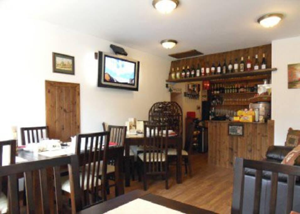 The Garsdale Bed & Breakfast, Breakfast Room & Bar