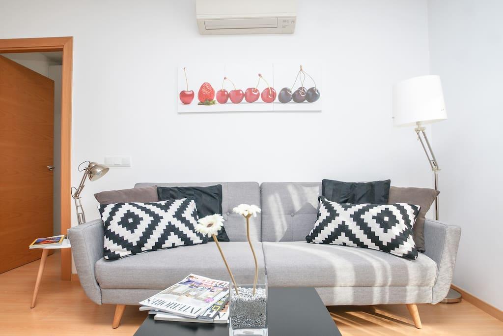 Moderno sofá-cama