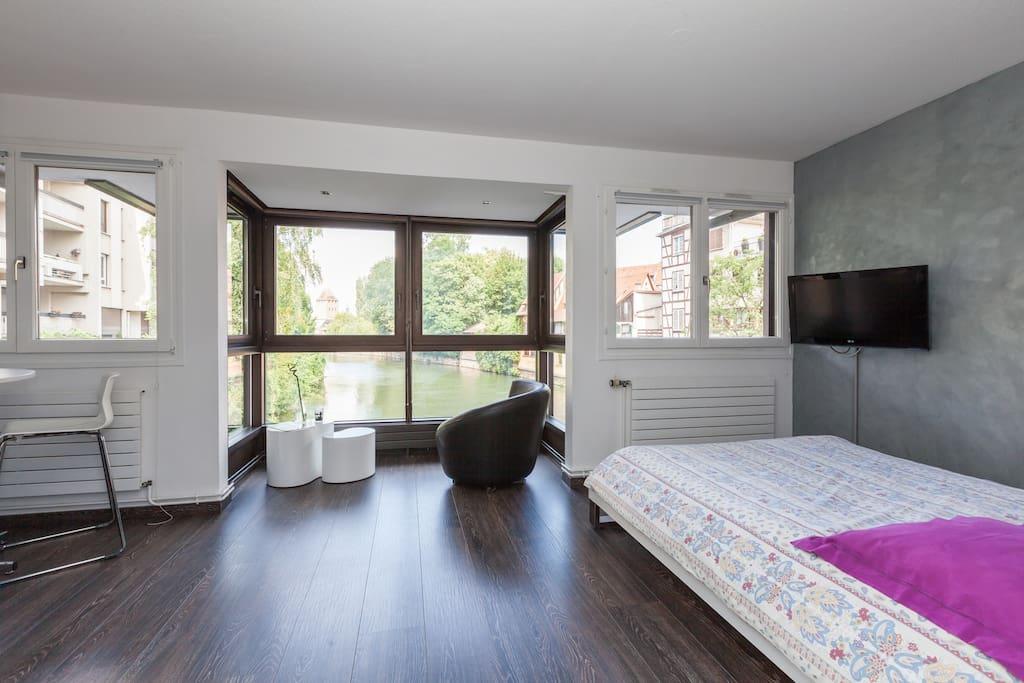 Studio de charme 28m2 petite france appartements louer strasbourg alsace lorraine france - Lino 5 metre de large ...