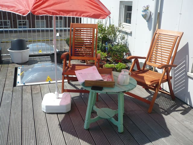 Roof Terrace Appartement Amsterdam max 2 people