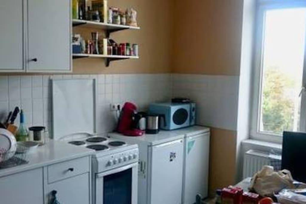 Die gemeinsam genutzte Küche