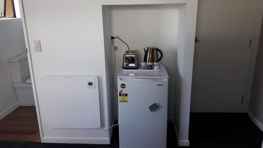 Fridge/Toaster/Jug   Also tea coffee and milk supplied
