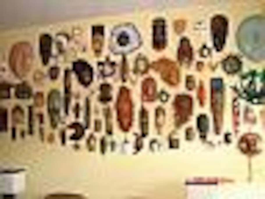Mask wall in living room