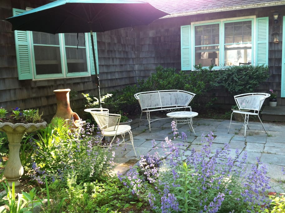 Garden patio.  Great for morning coffee.
