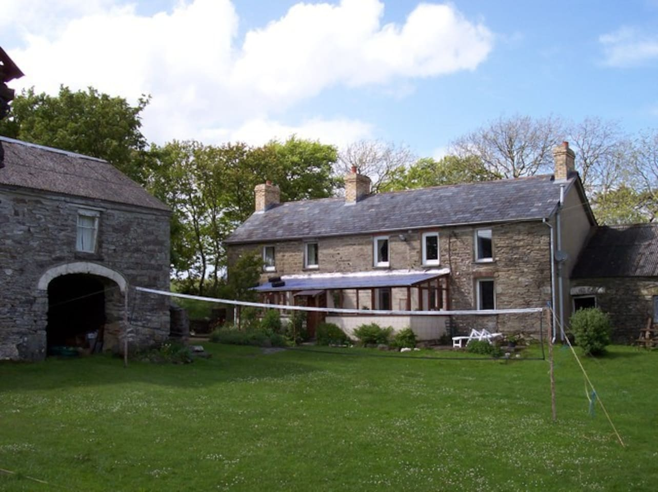 The House-we are always up for volleyball in the summer.