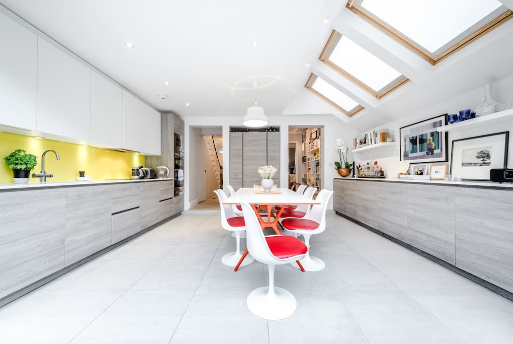 Take a seat and enjoy this super-modern kitchen space