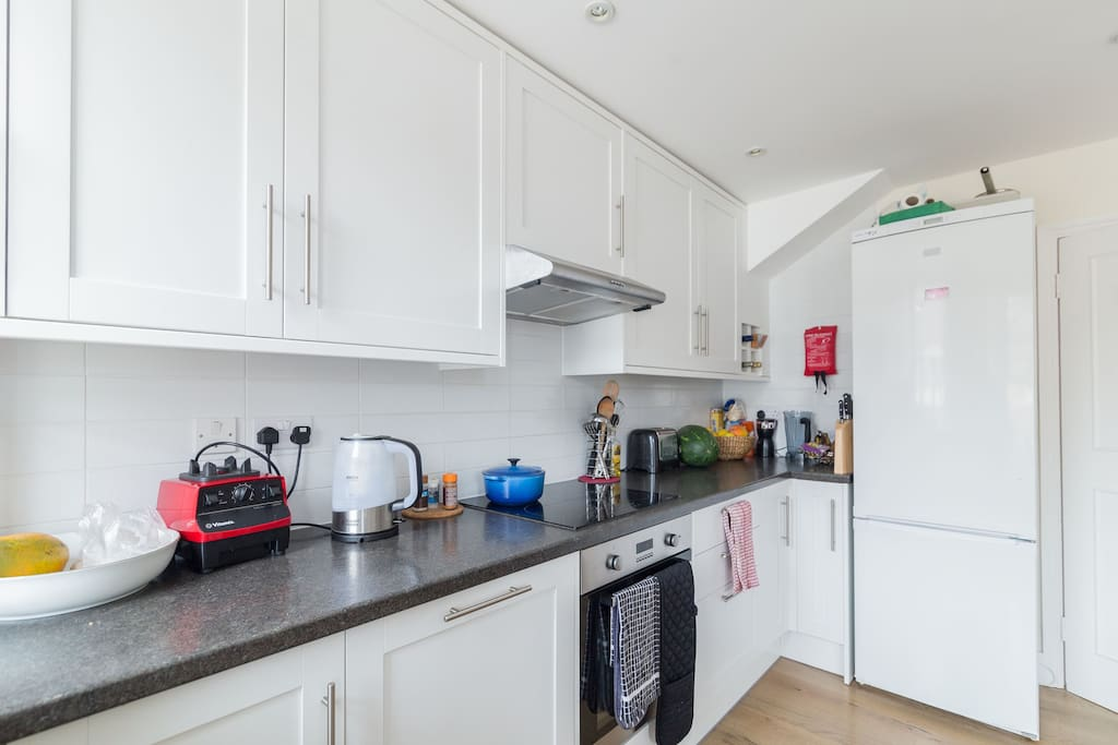 Fully equipped kitchen with everything you might need