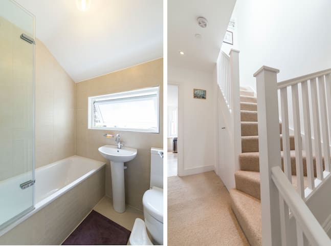Bathroom and staircase