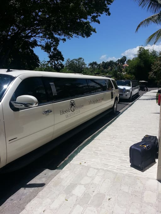Limo service to and from local airport