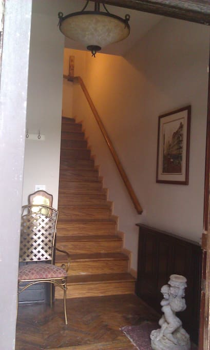 Entry into main house.  Upstairs to my duplex (2nd/3rd)
