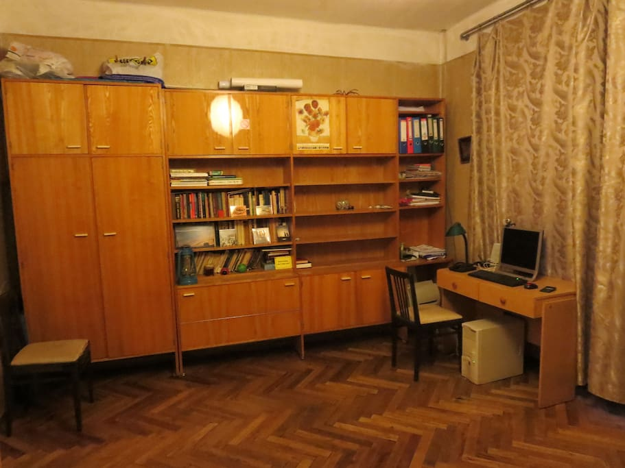 cozy, comfortable bright room, isolated with separate entrance from hall