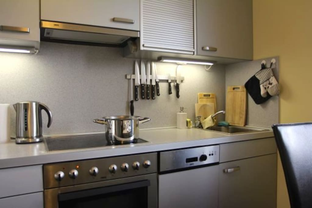 Completely equipped kitchen ready for some great cook!