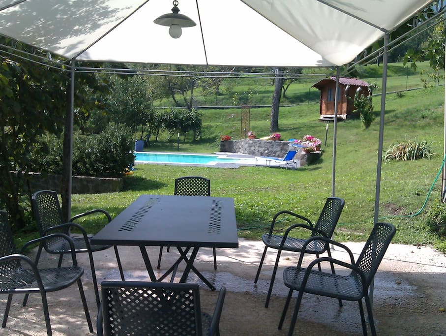 Lovely orchard garden and private al fresco dining area