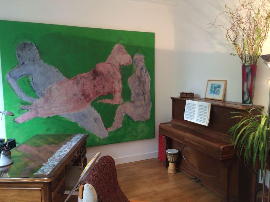 piano area.