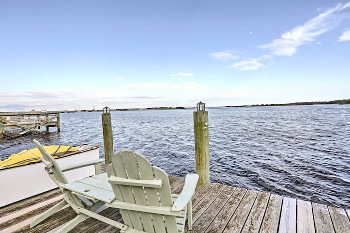 'Serenity by the Sea' Home w/Dock - 6 Mi to Beach!