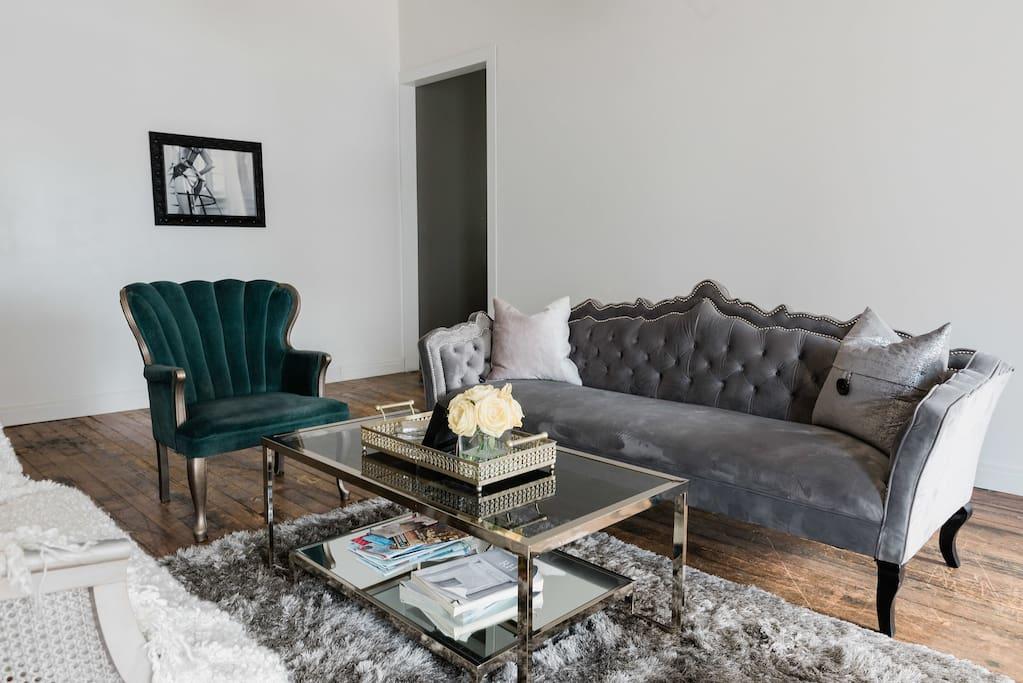 Beautiful tufted furniture.