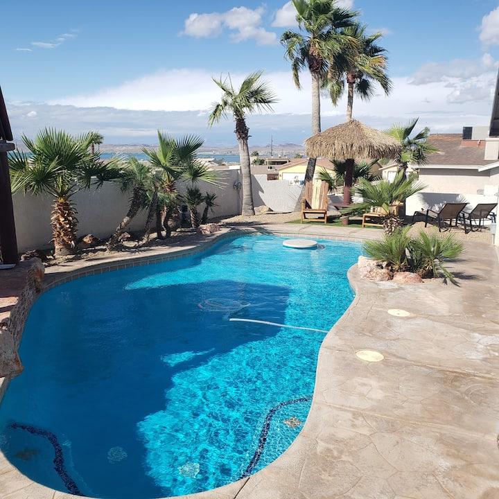 Lake Havasu City pool home with lake view