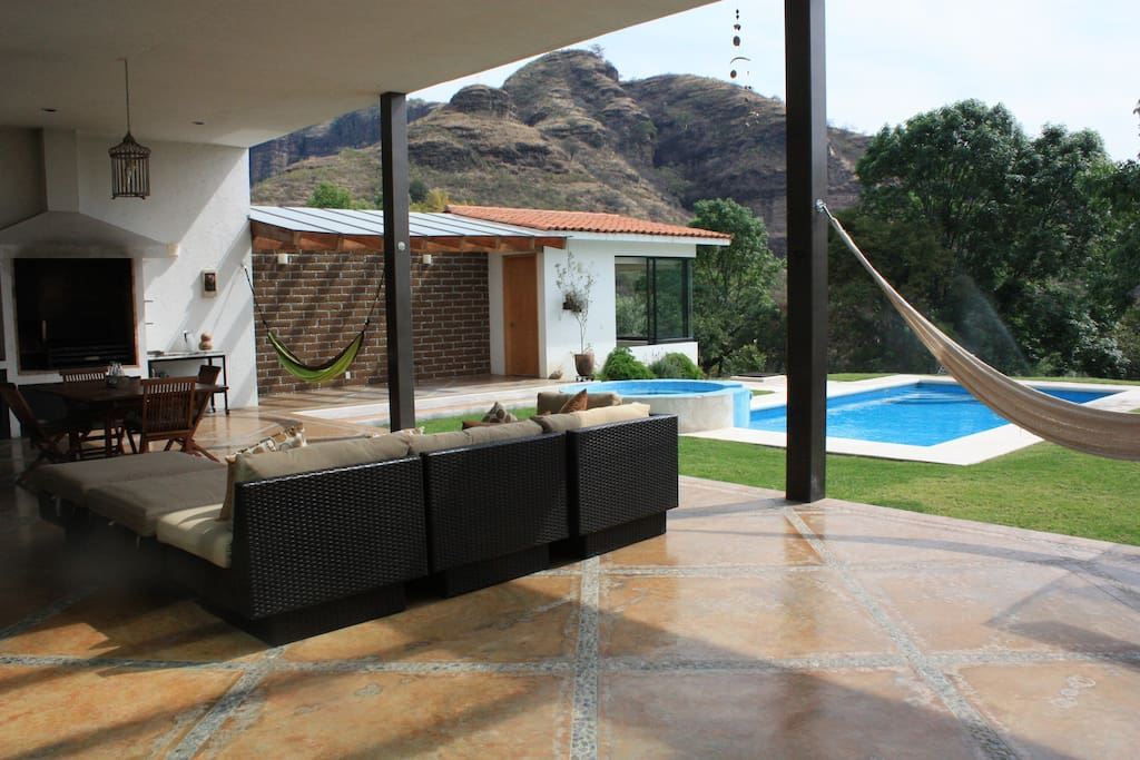 Huge terrace, Argentinian style grill and beautiful view