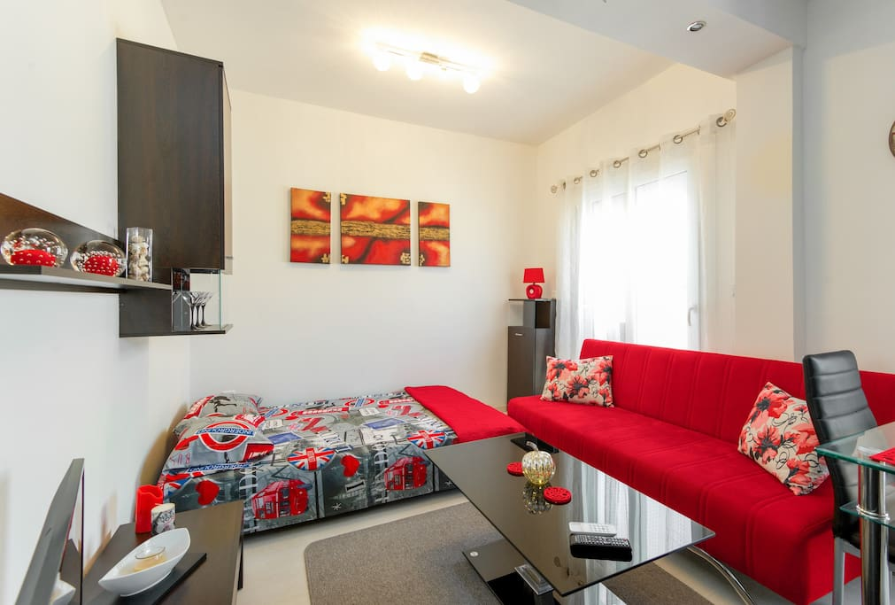 double bed and sofa bed