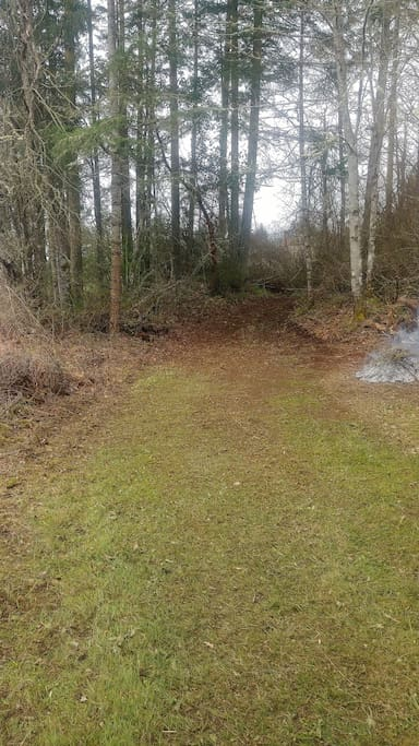 Winter is over and spring brush clearing is underway at site #1.