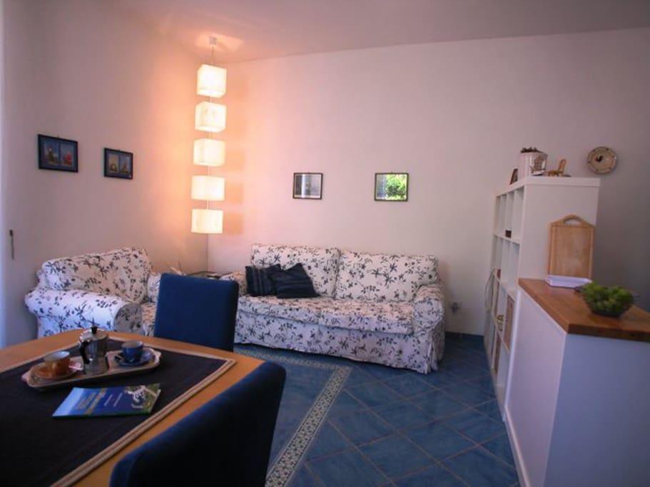 Another view of the living room with sofabed (un'altra prospettiva del soggiorno con divano letto)