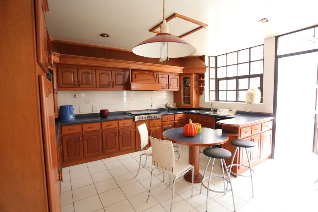 Very spacious kitchen.