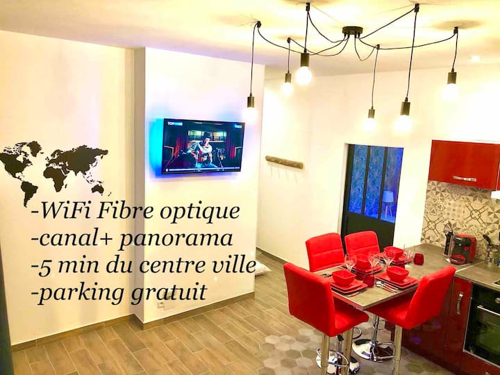 Le Led Room,Centre ville place de parking gratuite