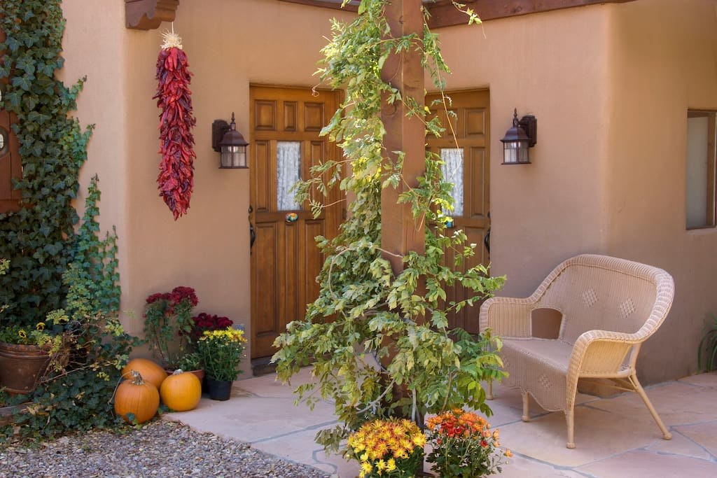 Entrance to Casa Juniper and the adjacent Casa Pinon.