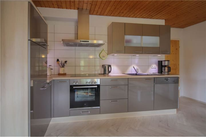 Big kitchen with dinning table