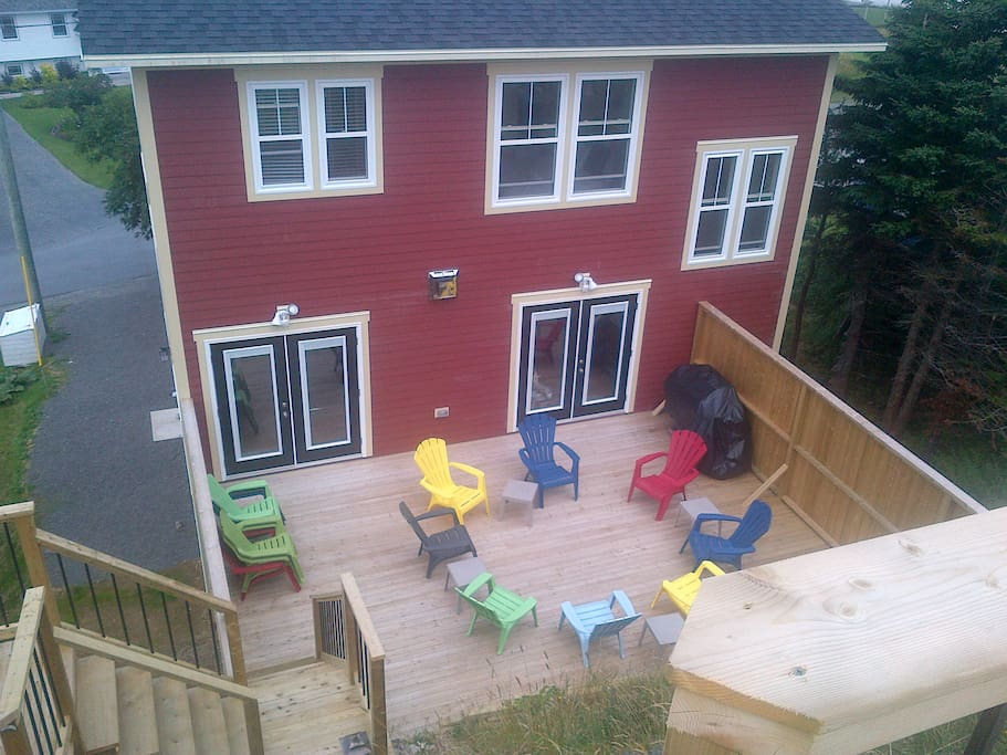 Large private deck with views off main level