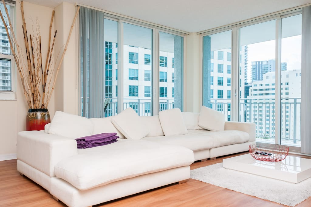 The most confortable living room in Miami