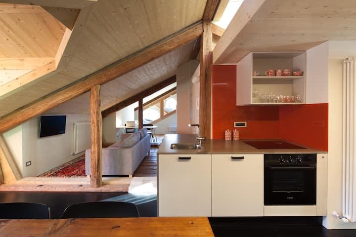 un attico speciale nelle Dolomiti