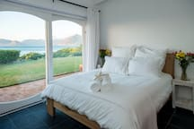 Guest bedroom # 2 with sea and mountain views