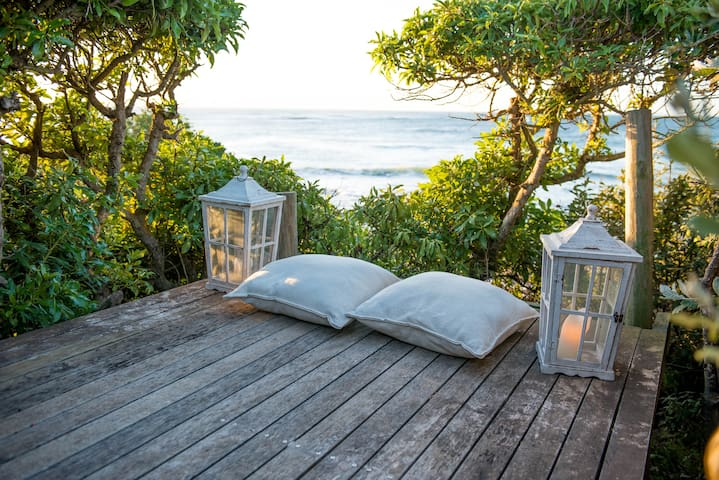 Private yoga and tanning deck