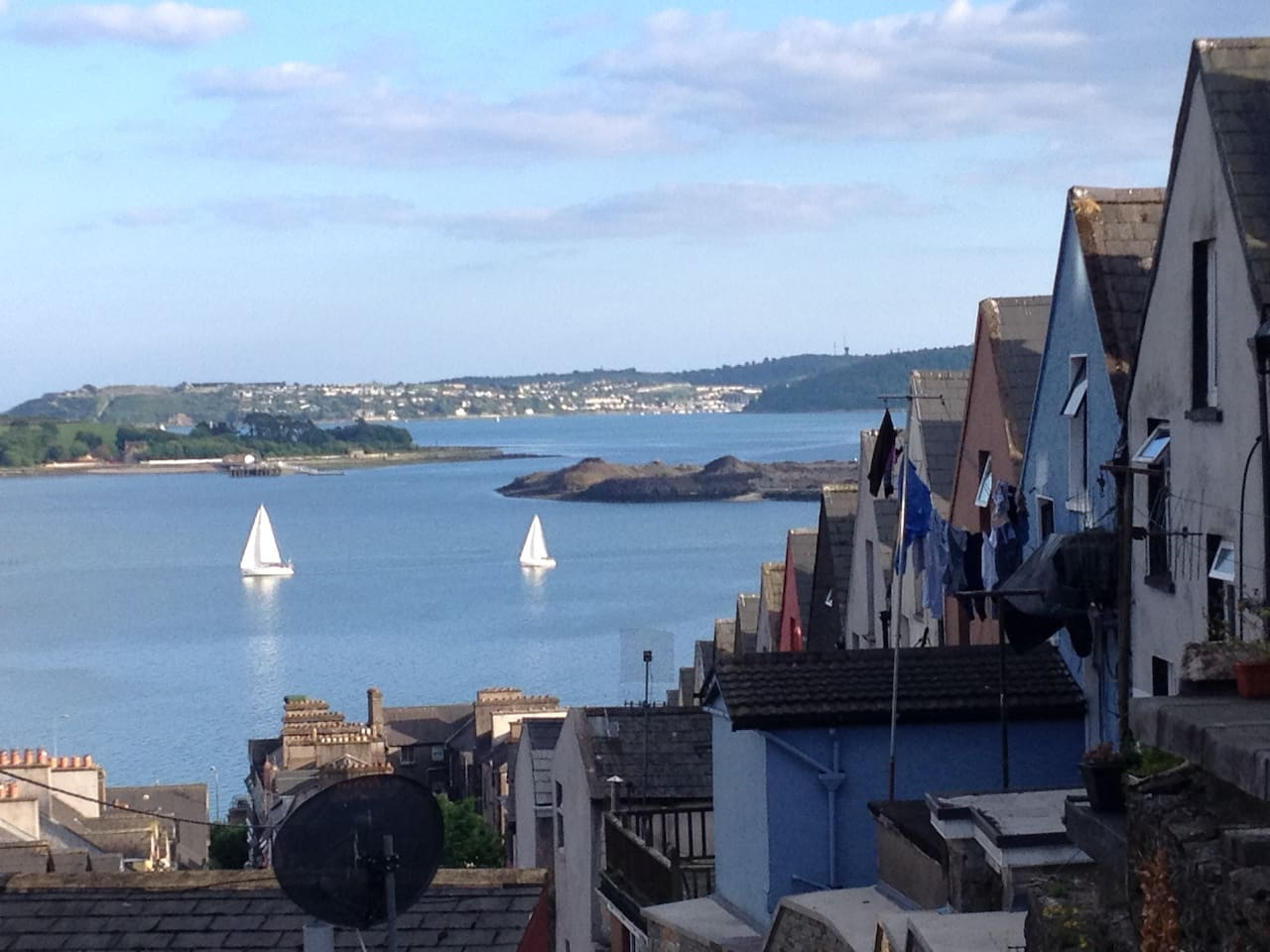 View from the Deck of Spike Island, Cobh Harbour & the Deck of Cards