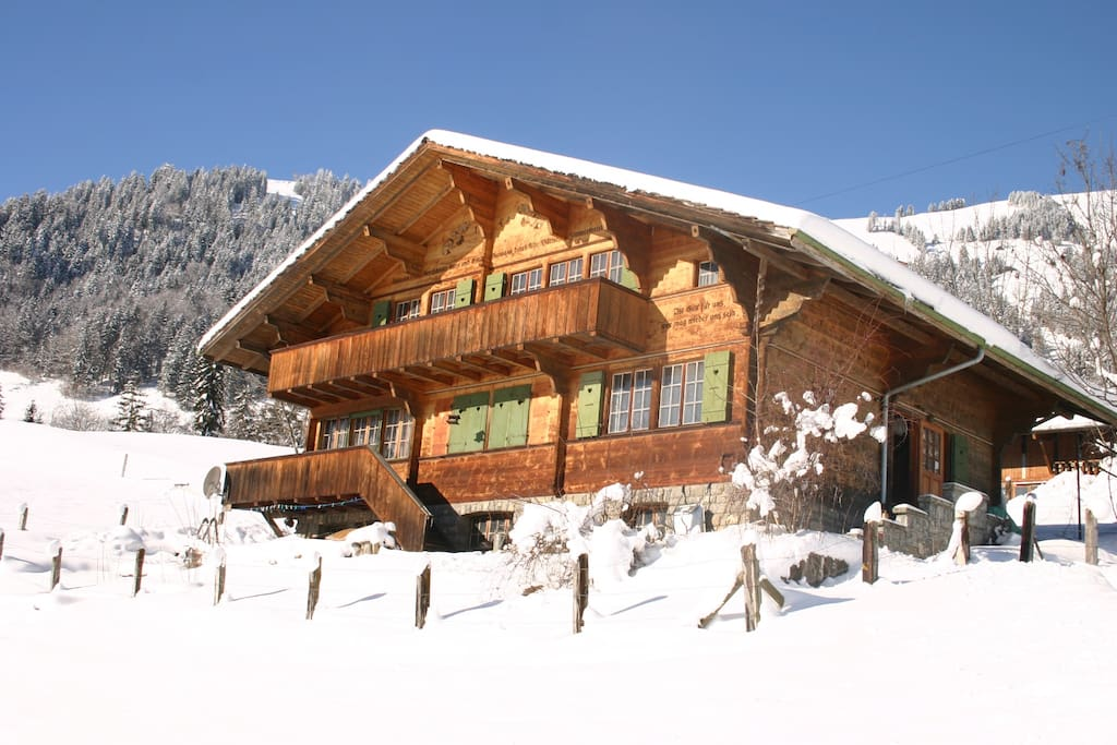 our chalet in winter