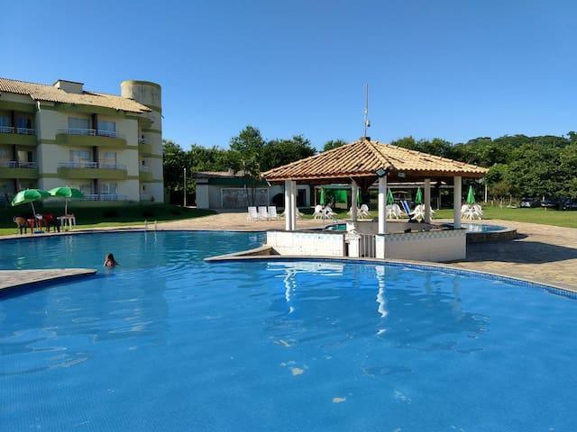 Flat Village das Águas resort, próximo ao parque