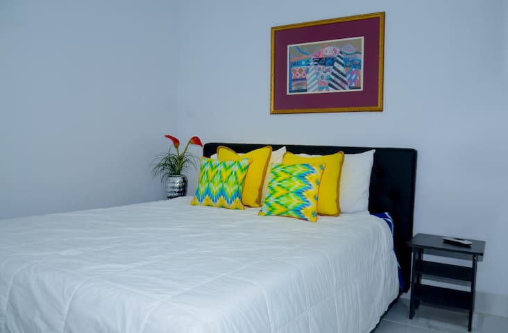 Bedroom with night tables