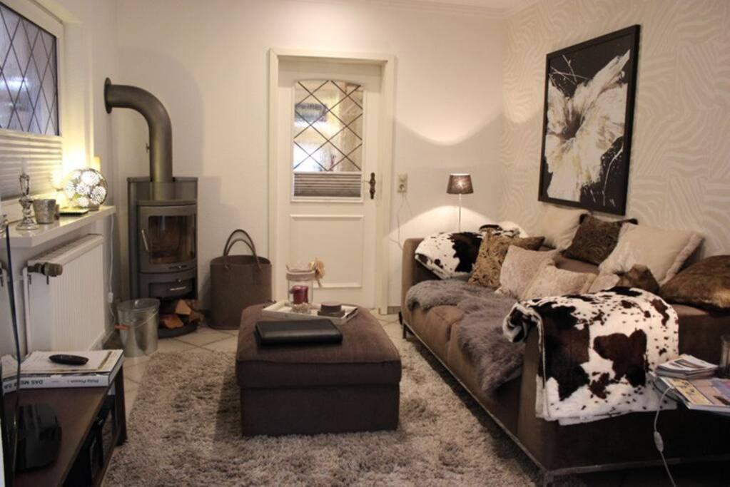 exklusiv eingerichtetes Wohnzimmer