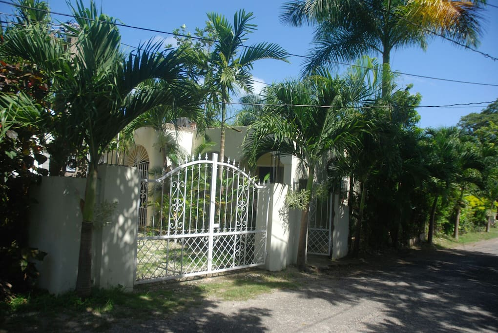 View of entrance gate