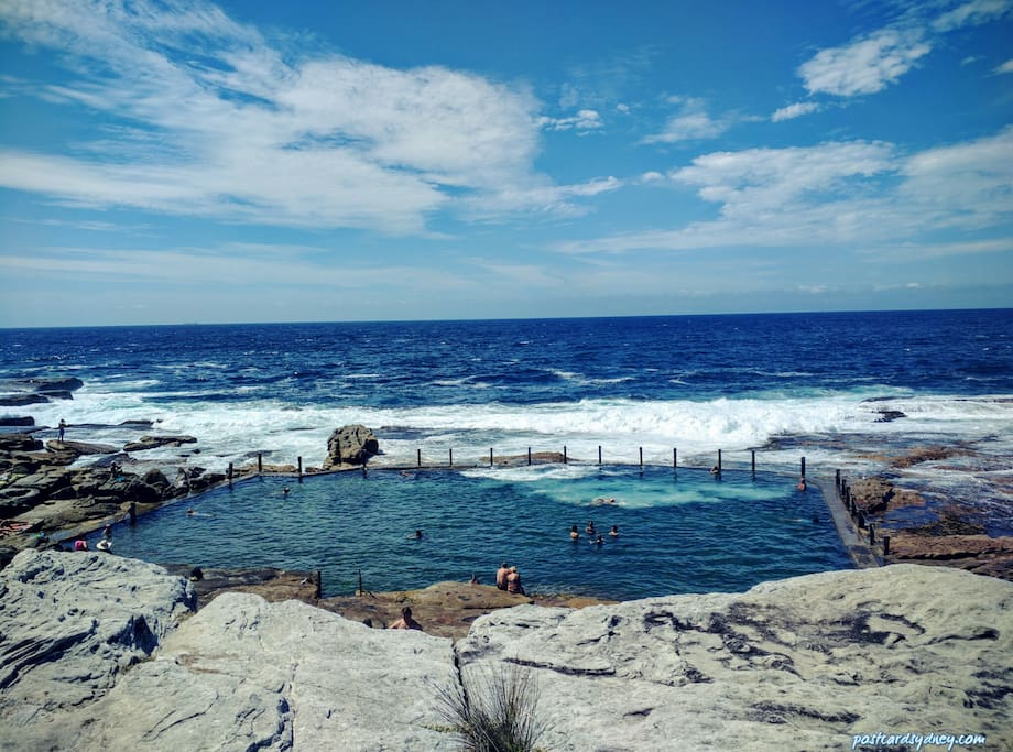 500m to natural ocean pool, Mahon pool