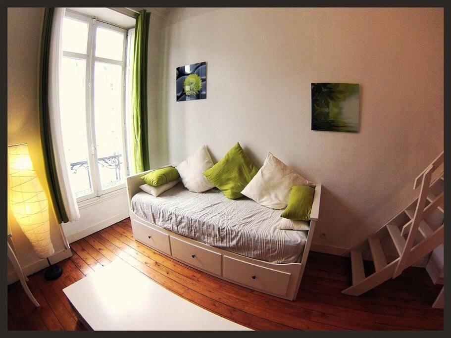 Canapé lit pour cuochage supplémentaire en 160*190
