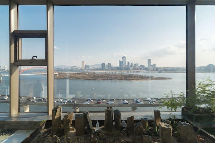 RIVER VIEW/ Trendiest Area / 8PAX / 3BR - Mapo-gu - Apartamento