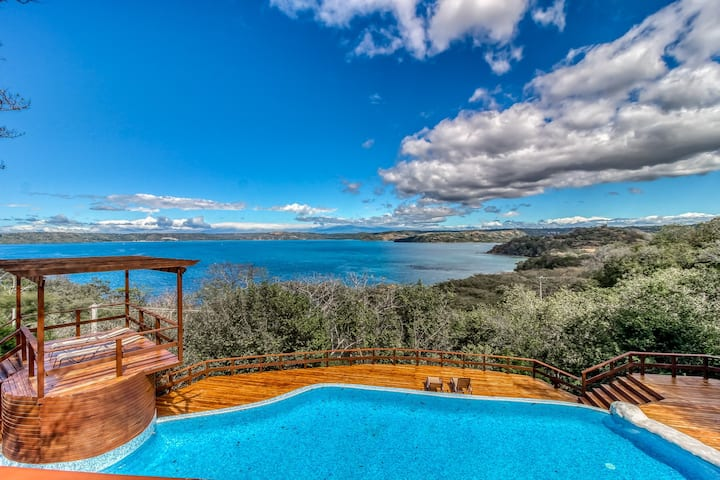 Spectacular Ocean View home w/ wrap-around deck, private pool & grill!