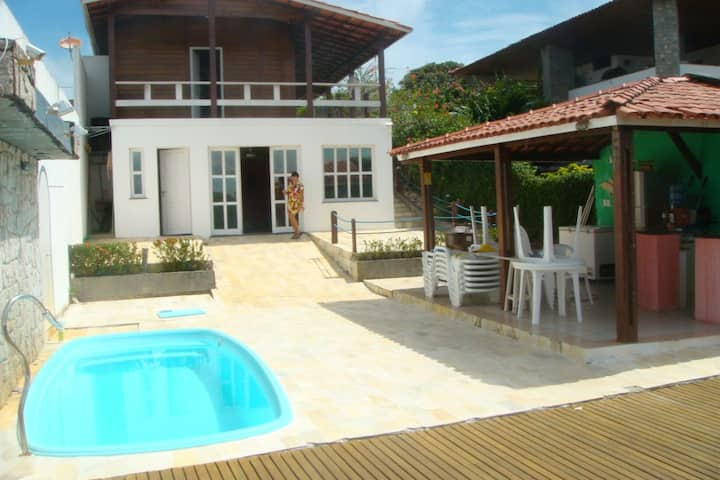 Bela Casa Frente ao Rio perto da Orla Pôr do Sol