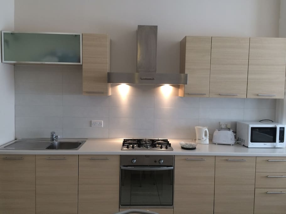 Kitchen, dining for 8 persons.