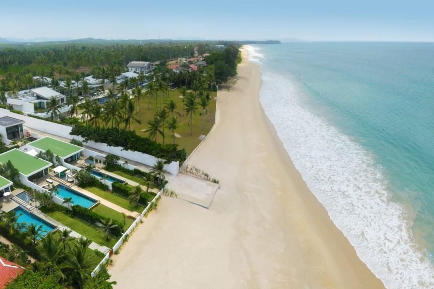 20km long secluded white sand beach.  We're the middle villa of the three.